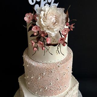 Cherry blossom wedding cake - Cake by Delice