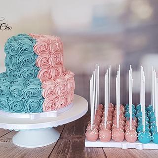 Baby Shower Cake & Cake Pops