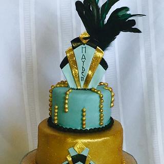 The Art/Deco cake - Cake by horsecountrycakes