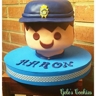 Playmobil Policeman cake - Cake by Gele's Cookies