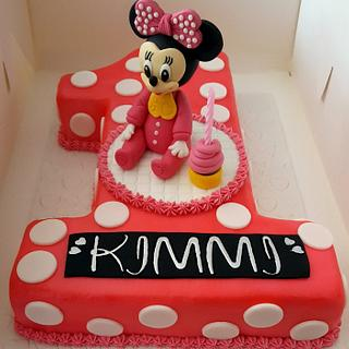 1st Birthday Mini Mouse Cake