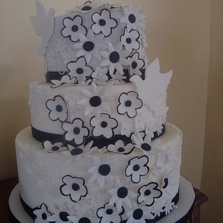 black and white - Cake by Shanikah Fernando