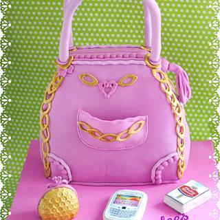 cake bag women . tarta bolso mujer
