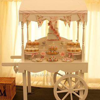 Vintage Wedding Cart Dessert Table
