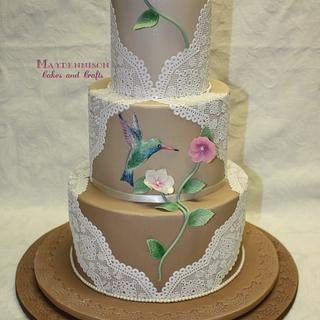 Hummingbird and lace