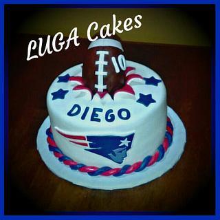New England Patriots exploding cake