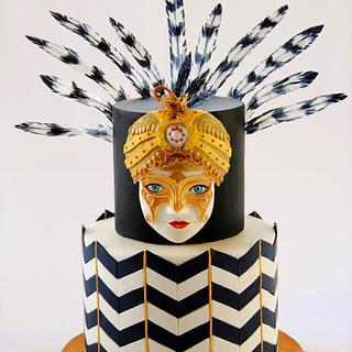 Venetian Mask In African Style