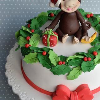 Santa Monkey's cake - Cake by Sara Russo