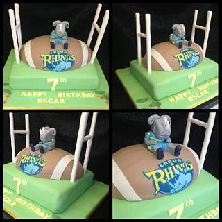 Leeds rhinos cakes - Cake by Kirstie's cakes