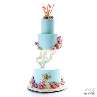 Floating Coral Cake