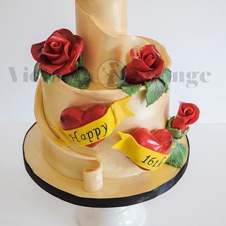 Sweet 16 Tattoo cake