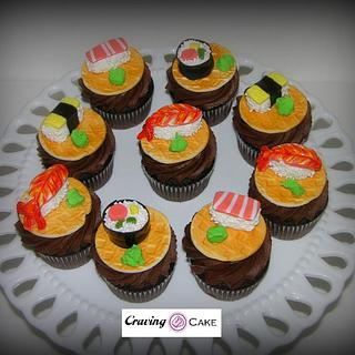 Sushi Cupcakes - Cake by Craving Cake