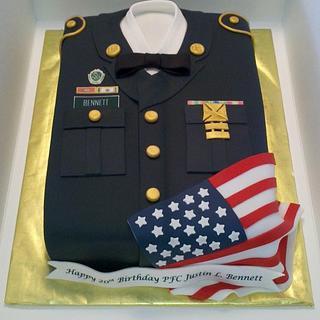 Army Uniform Cake - Cake by Kimberly Cerimele