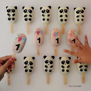 Panda Cakesicles