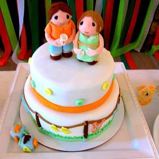 Precious Moments Baby Shower Cake