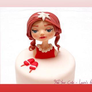 """Fior di fragola"" cake and mini cake"