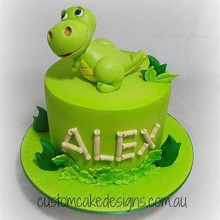 Cartoon Dinosaur Cake