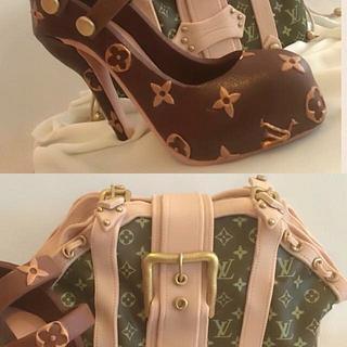Louis Vuitton Bag and High Heel - Cake by KuDi Cake Design