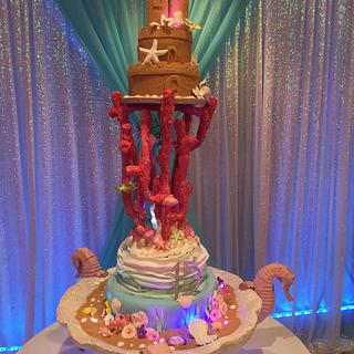 Sandcastle and Coral Reef Cake