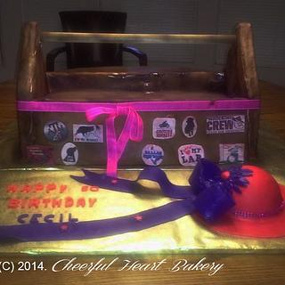 Toolbox cake with Red hat