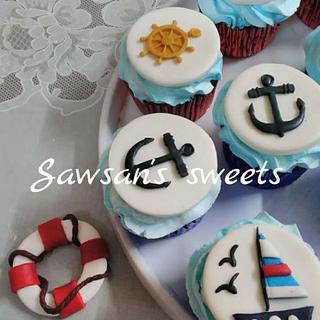 Naval academy cupcakes