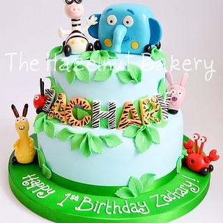 Jungle Junction 1st Birthday Cake - Cake by HazelnutBakery