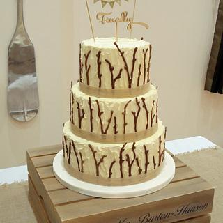 Twigs Wedding Cake