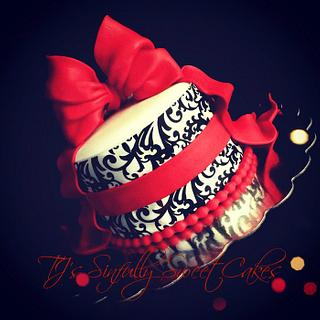Little Red Damask Cake - Cake by Tyla Mann