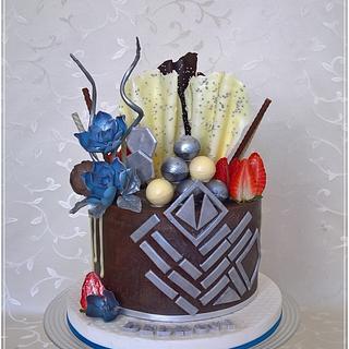Birthday cake for man