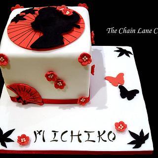 Japanese Geisha Cake - Cake by The Chain Lane Cake Co.