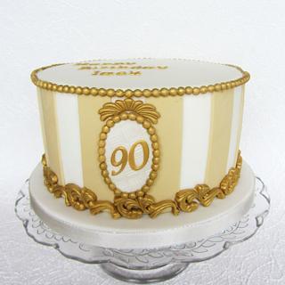 Baroque Birthday Cake