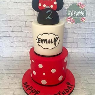 2 Tier Mickey Mouse/Minnie Mouse Cake