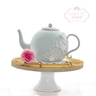 Vintage Teapot Cake - Cake by Cakes by Sian