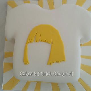 Sia t-shirt cake