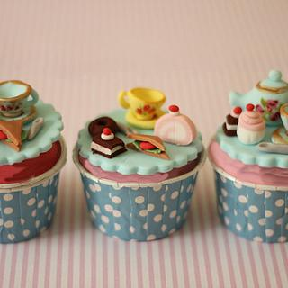 Tea and Cakes birthday cupcakes
