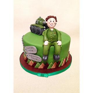 Army Themed Birthday Cake - Cake by Beth Evans