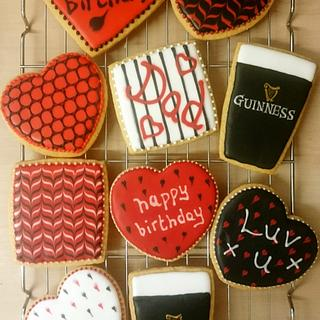 Guinness and Red and black cookies