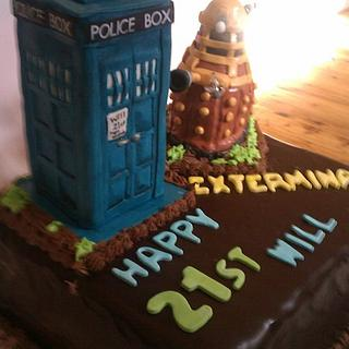 Dr Who 21st mud cake