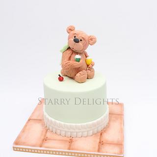 Teddy Bear cake and cupcakes , Macmillan's coffee morning