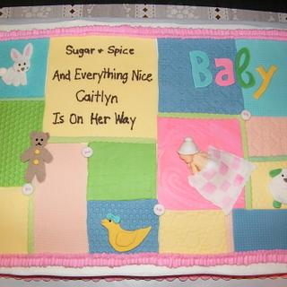 Baby Shower Cake - Cake by Judy Remaly