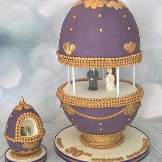 Faberge Egg - Cake by DeliciousCakeCompany