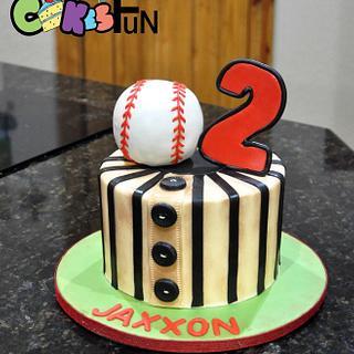 Small baseball themed cake