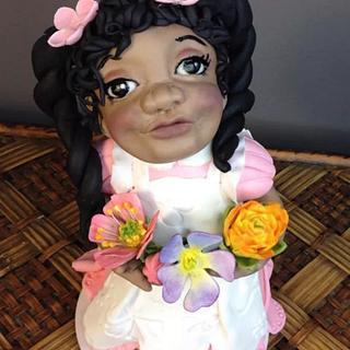 Flower Baby cake topper - Cake by Lesi Lambert - Lambert Academy of Sugar Craft