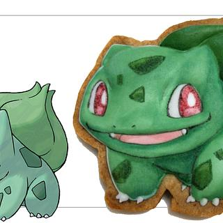 How to Draw Pokemon #001 BULBASAUR On Cookies