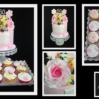 Pink Roses Anniversary Cake - Cake by Wendy - Saraphia Kakes