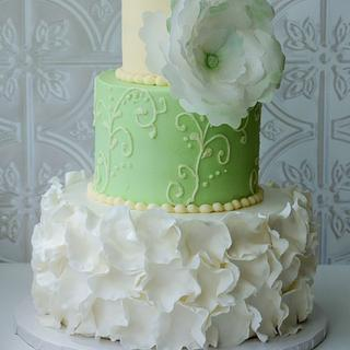 Mint and cream - Cake by Magda's cakes