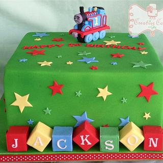 Thomas themed Cake - Cake by Gen