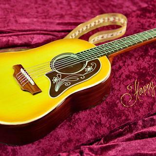 3D Acoustic Guitar Cake - Cake by Serdar Yener | Yeners Way - Cake Art Tutorials