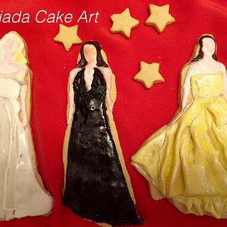 Oscar Gowns Themed Cookies - Cake by G Sugar Art
