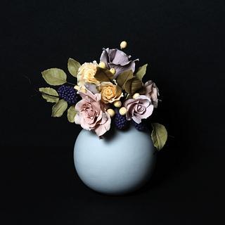 Romantic sugar flowers